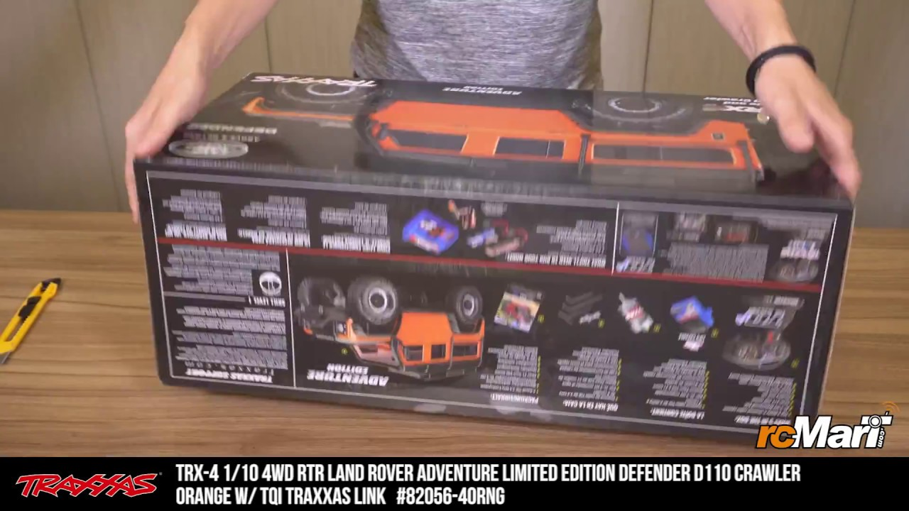 Traxxas TRX-4 Land Rover Adventure Limited Edition Defender D110 Crawler  Orange Unbox!