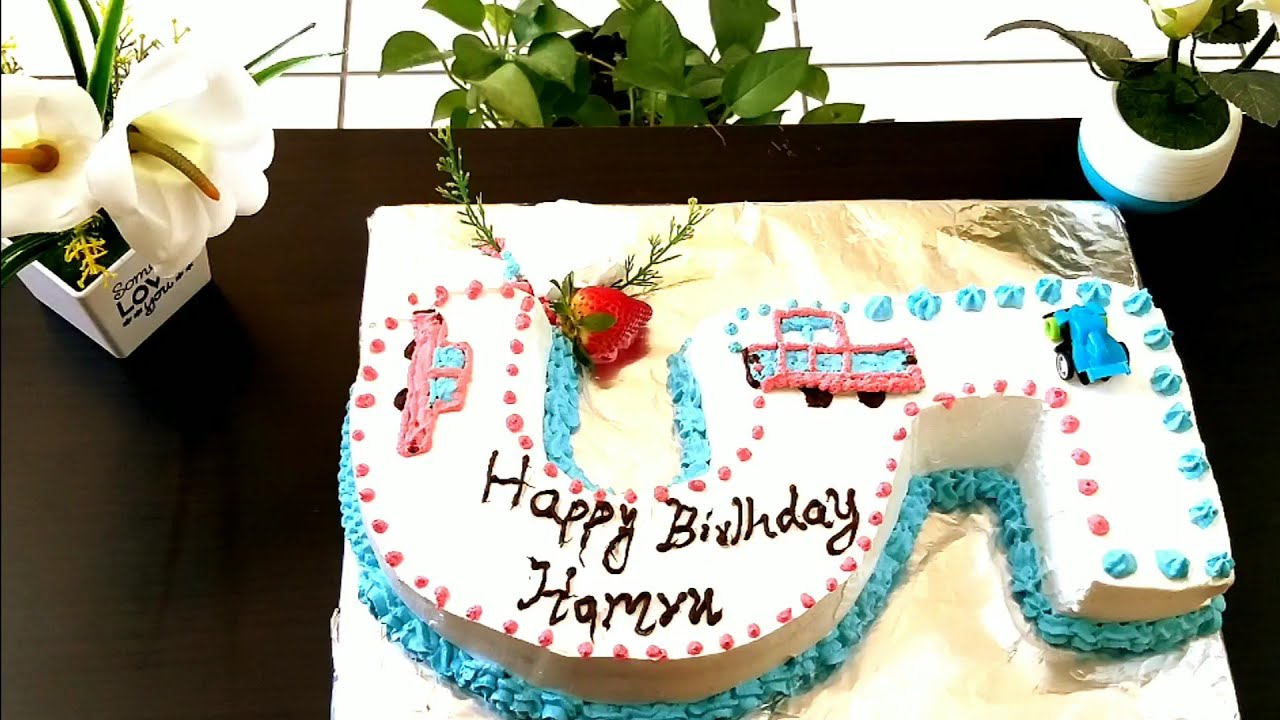 2 kg Number cake without mould round |Birthday cake ...