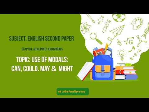 15. English 2nd Paper (Class 6)- Auxiliaries & Modals - Use of Modals-Can, Could. May & Might