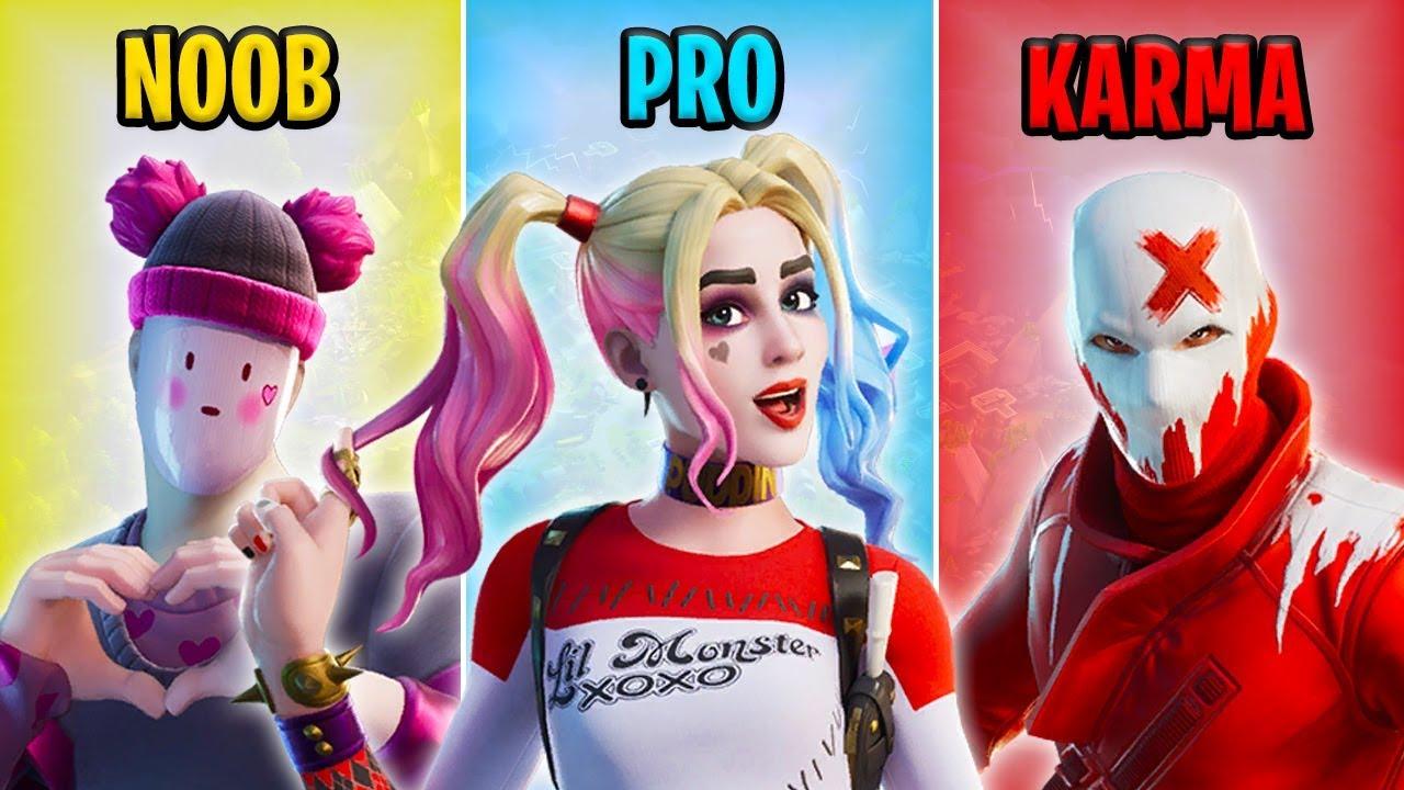 NOOB vs PRO vs KARMA - Fortnite Funny Moments #16