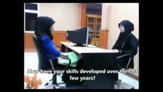 Repeat youtube video Contoh Percakapan Bahasa Inggris: JOB INTERVIEW