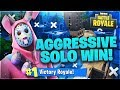 AGGRESSIVE SOLO WIN in Fortnite: Battle Royale!