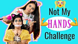 NOT My HANDS Makeup Challenge | #Fun #Comedy #Anaysa
