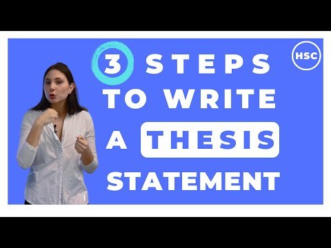3 Steps To Write A Thesis Statement: Texts And Human Experiences
