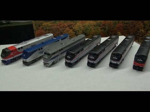 Review: Athearn HO P42's Amtrak Veterans & Heritage Units