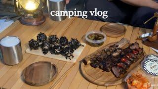 (eng sub) 캠핑의 밤은 불멍 그리고 빔프로젝터로…