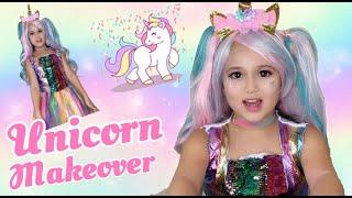 Unicorn's makeover - Rainbow unicorn's makeup and costume Tutorial HD