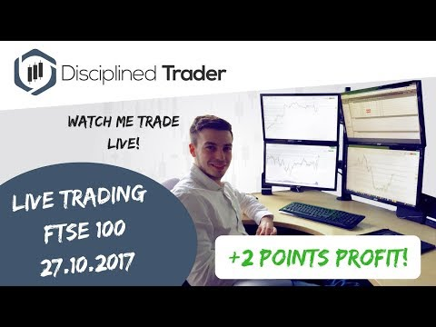 Live Day Trading (Indices/Forex) - 27th October 2017 - A Loser... Then A Winner