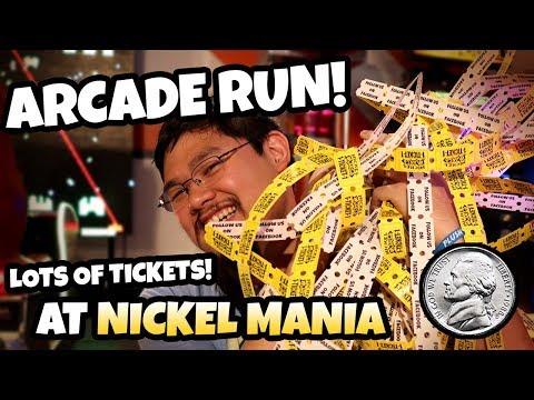 Nickels Only Arcade Run! Lots of Tickets at Nickel Mania Arcade