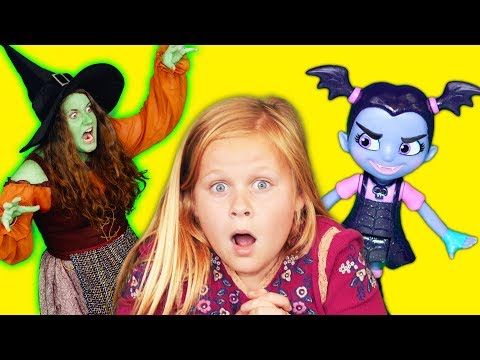Thumbnail: VAMPIRINA Disney Assistant Slime Pranks the Witch with Vamperina Toys