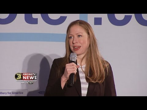 3 HMONG NEWS: Chelsea Clinton speaks at an early vote rally in Minneapolis.