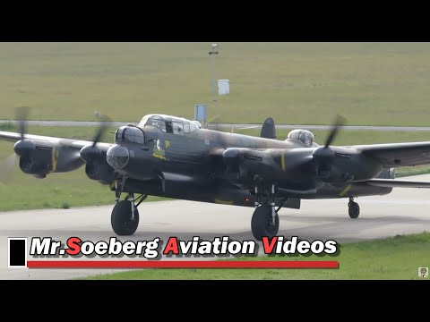 BEAUTIFUL Arrival and AWESOME Sound of the Lancaster; Eindhoven 04-05-2014