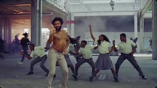 Donald Glover danching almost matches music bullshit meme title