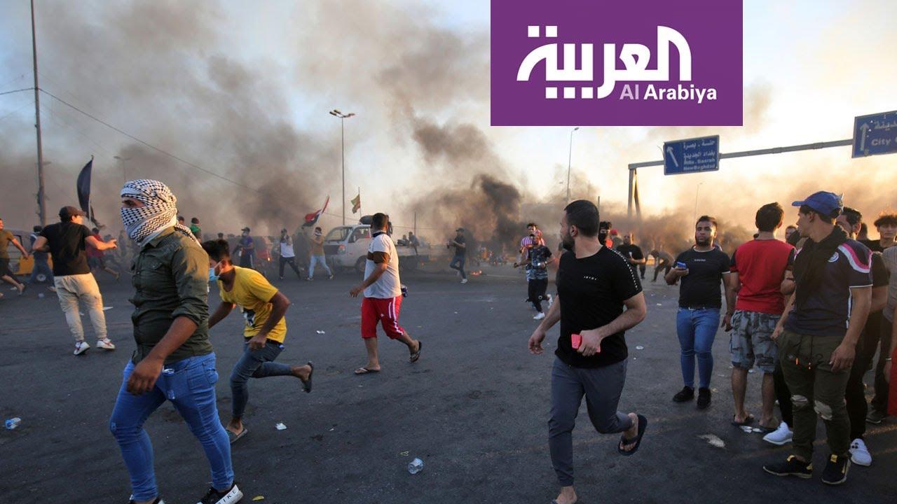 المظاهرات في بغداد والمحافظات الجنوبية تدخل يومها السادس