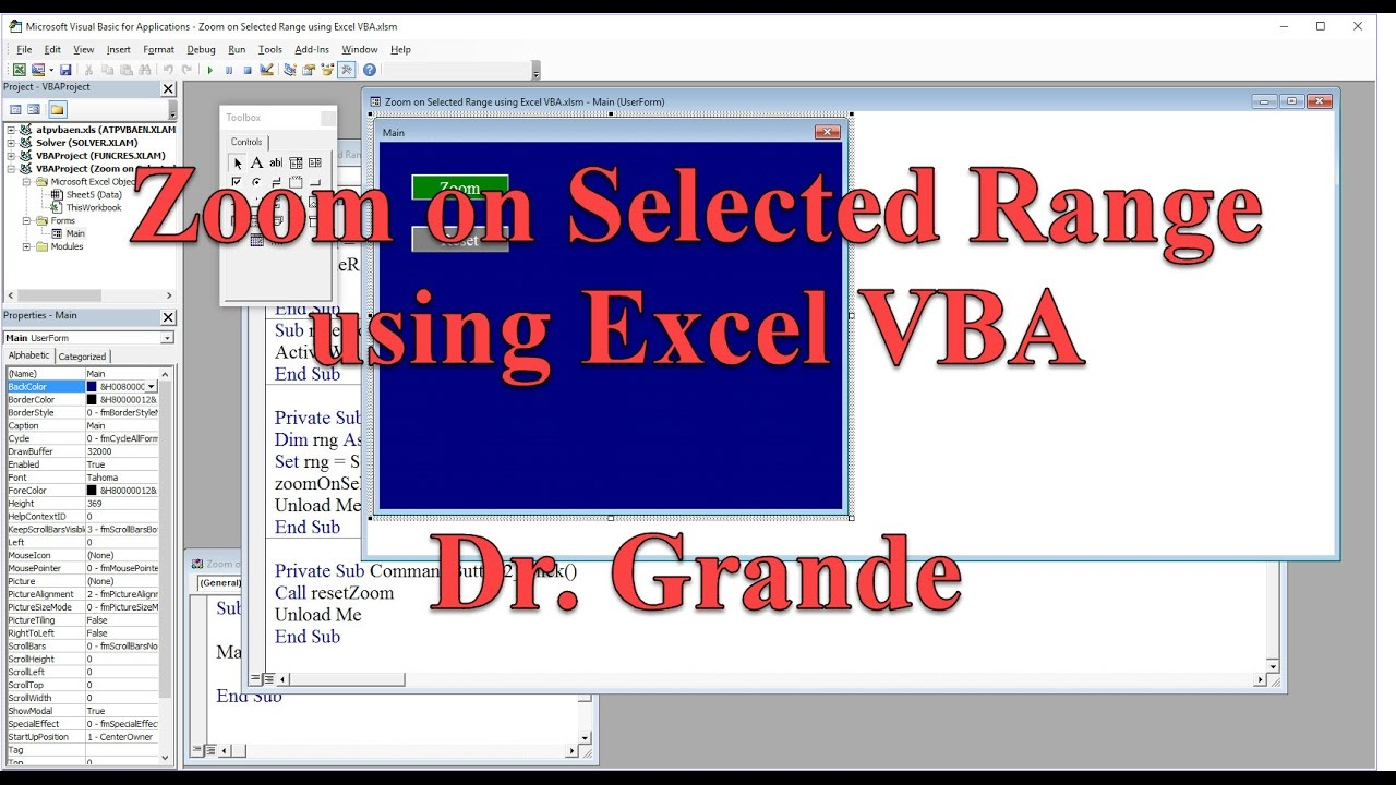 Zoom on a selected range and reset to original zoom level using zoom on a selected range and reset to original zoom level using excel vba ccuart Image collections
