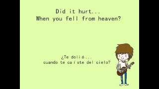 Never Shout Never - Did it hurt? (Lyrics + Sub. Español)