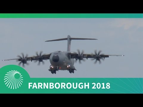 Farnborough 2018: Airbus A400M Atlas flying display