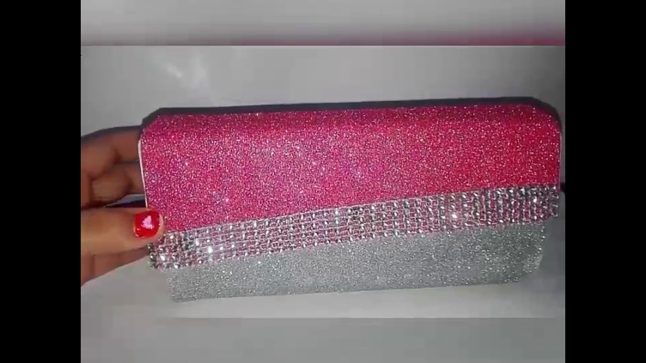 Barbie clutch with glitter sheet hard chart for Fomic sheet decoration youtube