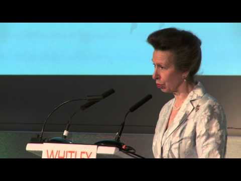 HRH The Princess Royal speaks at the 2013 Whitley Awards 1
