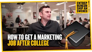 How To Get Marketing Job After Col