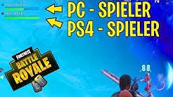 FORTNITE als PS4 SPIELER MIT PC SPIELERN SPIELEN! SO GEHTS! PLATTFORMÜBERGREIFEND SPIELEN! CROSSPLAY