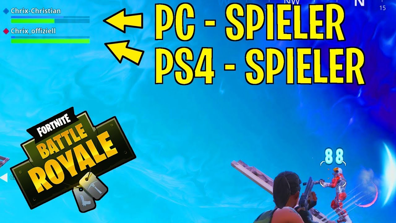 fortnite als ps4 spieler mit pc spielern spielen so gehts. Black Bedroom Furniture Sets. Home Design Ideas