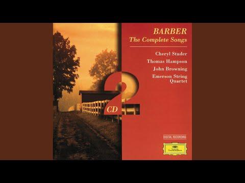 Barber: Hermit Songs Op.29 - 6. Sea-Snatch