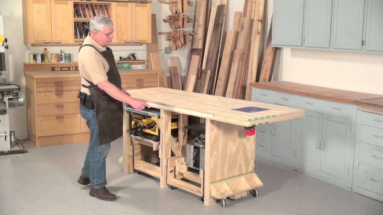 Power Tool Friendly Bench - YouTube