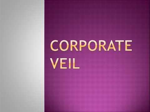 corporate veil 1 introduction the doctrine of the corporate veil suggests that the legal personality of a company and the personalities of its shareholders and directors are.