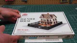 Model Power Haunted House HO Railroad Model Kit Open Box Review