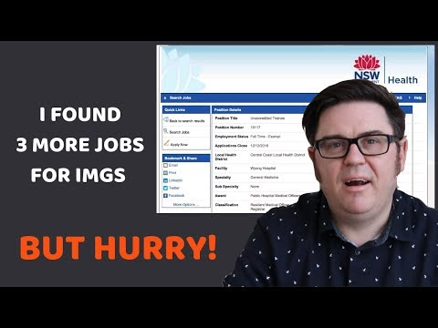 Doctor Jobs In Australia. I Found 3 More