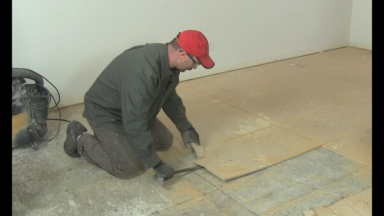How To Remove Kitchen Tiles How To Remove Underlayment Subfloor Youtube