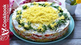 Mimosa Salad - Looks like a Cake! | Mimoza Salatı | Салат Мимоза - Oчень Вкусный и Нежный!