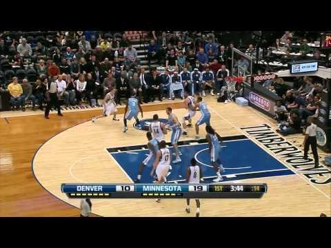 Kevin Love's return 34 points 14 rebounds vs Denver Nuggets full highlights 11/21/2012 HD