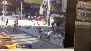 Car run over the people in Times Square NYC (warning strong conten contend )