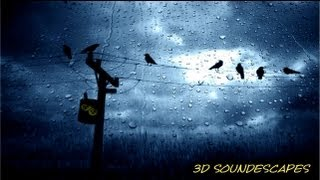 BINAURAL SOUNDS 3D (ASMR) - Heavy Rain & Thunder