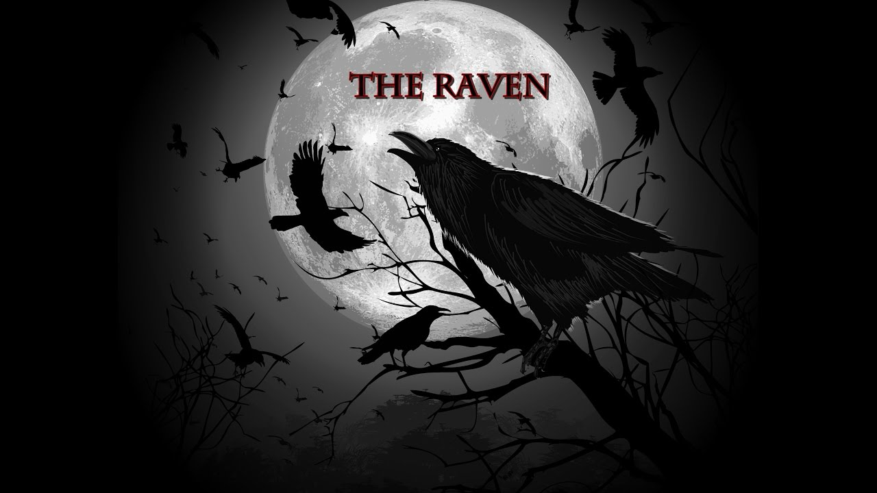 the raven edgar allan poes The raven by edgar allan poe - published 1845 once upon a midnight dreary, while i pondered, weak and weary, over many a quaint and curious volume but the raven, sitting lonely on the placid bust, spoke only that one word, as if his soul in that one word he did outpour nothing further then he.