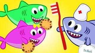 Cookie Song - Baby Shark and Mommy Nurse Brushing Teeth - Nursery Rhymes