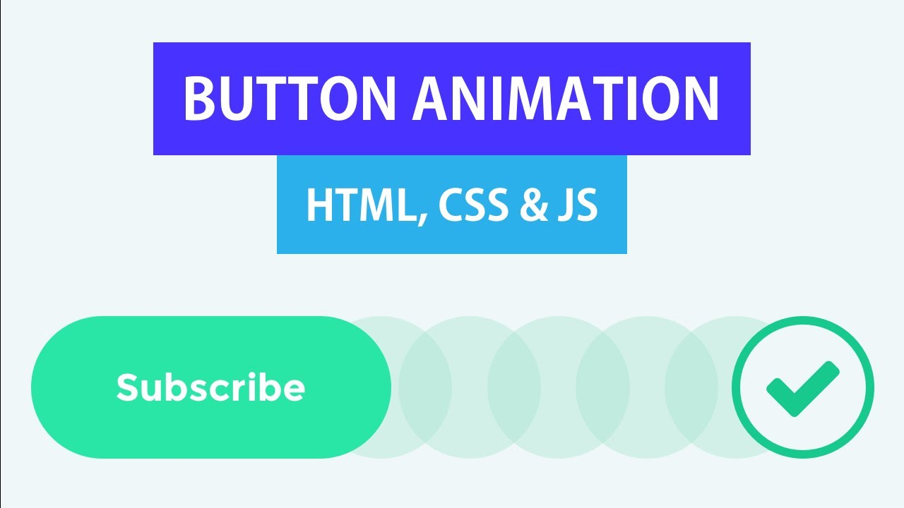 Button Animation with HTML CSS JS | CSS Keyframe Animation