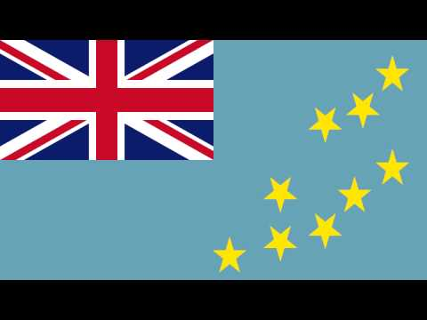 Bandera e Himno Nacional de Tuvalu - Flag and National Anthe
