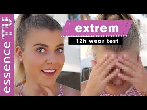 EXTREM TEST: wie wasserfest ist drogerie make up - 12 h tragestest