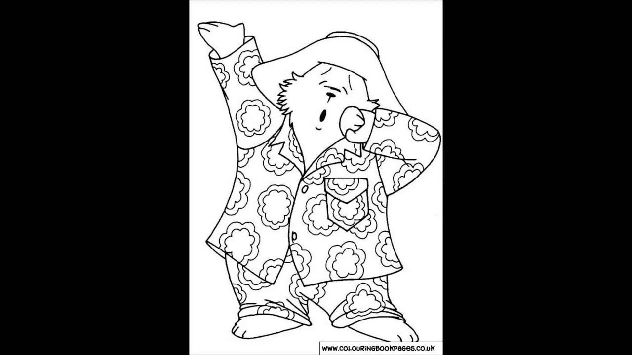 paddington bear Colouring Pages and Kids Colouring Game - YouTube