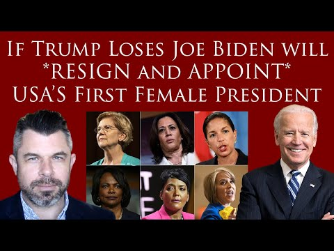 If Trump loses Joe Biden will *RESIGN as President and APPOINT* USA's First Female President