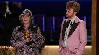 Billie Eilish Wins Record Of The Year | 2021 GRAMMY Awards Show Acceptance Speech