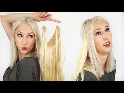 Halo Hair Extensions?? Try-On First Impressions