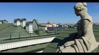 ''Смотритель'' в Эрмитаже. На крыше Эрмитажа. Часть 1. Рассказывает Ю.Ю. Денисова
