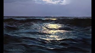 #111 How To Paint Moonlight On Water | Oil Painting Tutorial