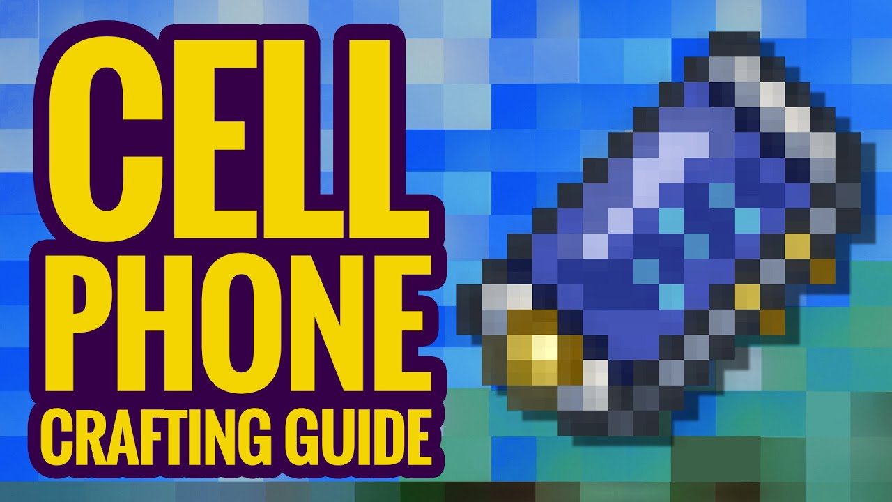 Cell Phone Crafting Guide - Terraria