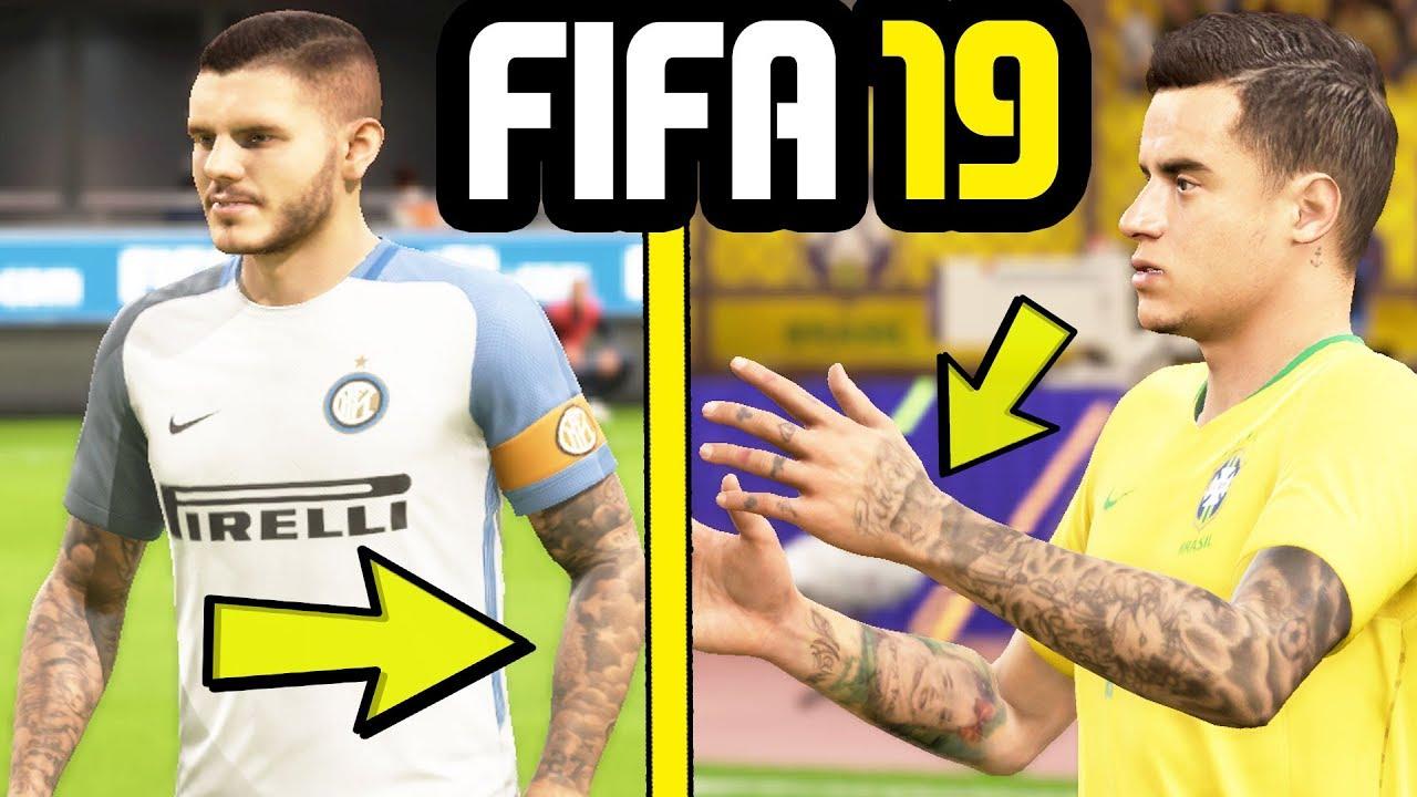 Fifa 19 New Player Tattoos Concept Neymar Coutinho Sergio Ramos More