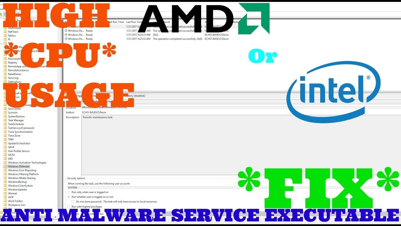 Anti Malware Service Executable High Cpu Usage Fix Youtube